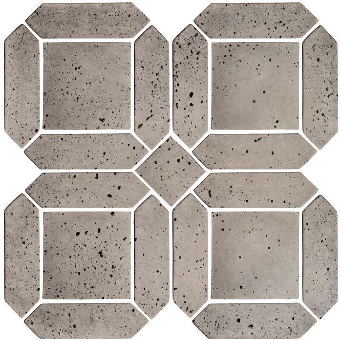 3x11 Artillo Double Picket Set Natural Gray Travertine
