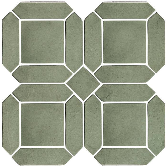 3x11 Artillo Double Picket Set Ocean Green Light