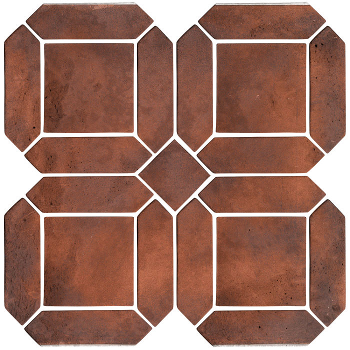 3x11 Artillo Double Picket Set Red Flash Limestone