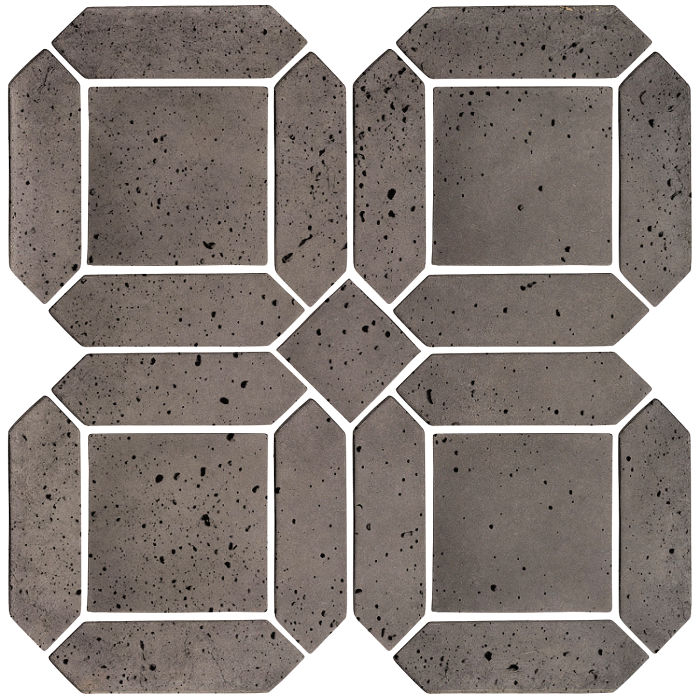 3x11 Artillo Double Picket Set Smoke Travertine