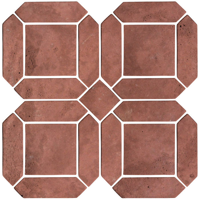 3x11 Artillo Double Picket Set Spanish Inn Red Limestone