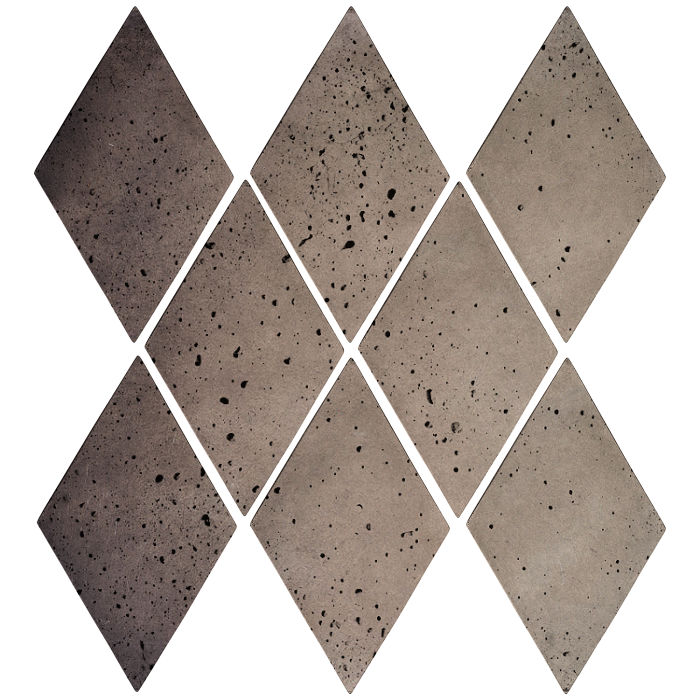 3x5 Mini Diamond Antik Gray Travertine
