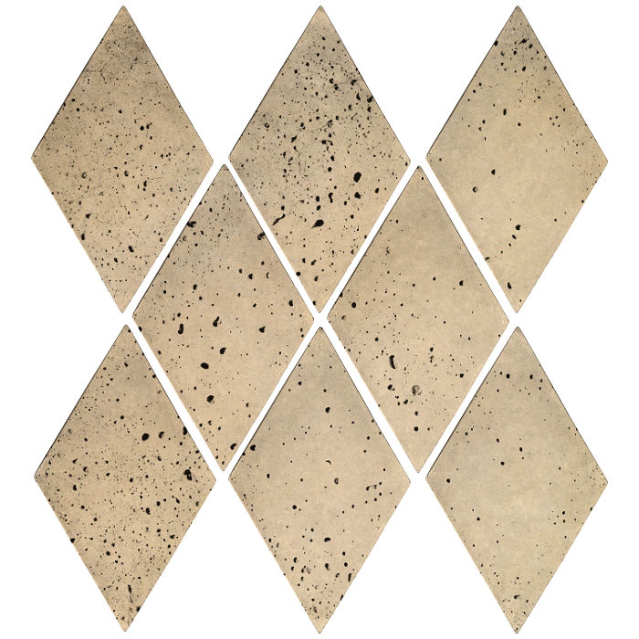 3x5 Mini Diamond Bone Travertine