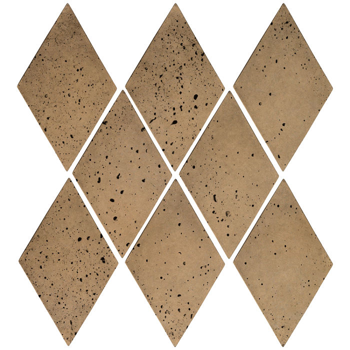 3x5 Mini Diamond Caqui Travertine