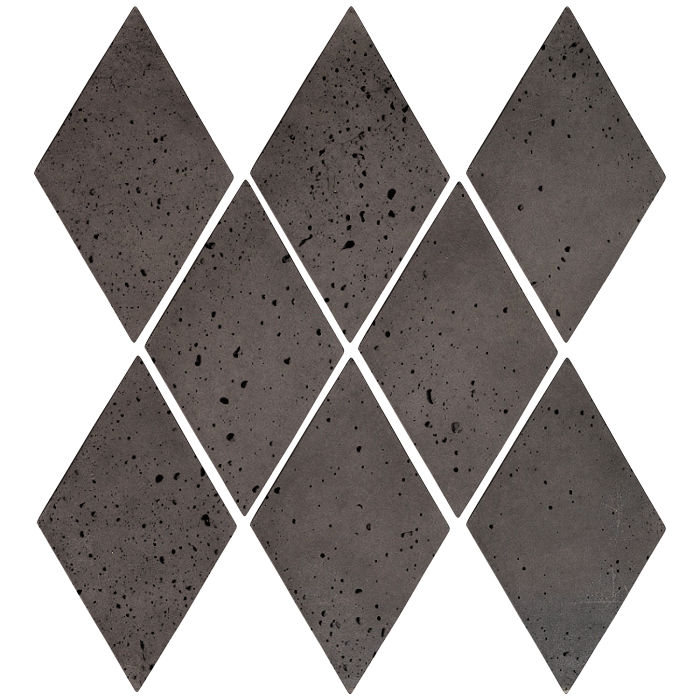 3x5 Mini Diamond Charcoal Travertine