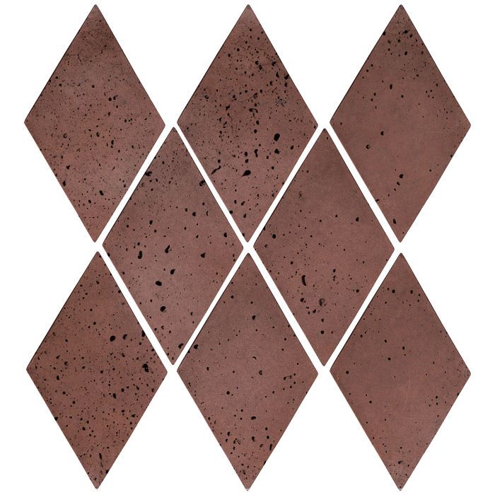 3x5 Mini Diamond City Hall Red Travertine
