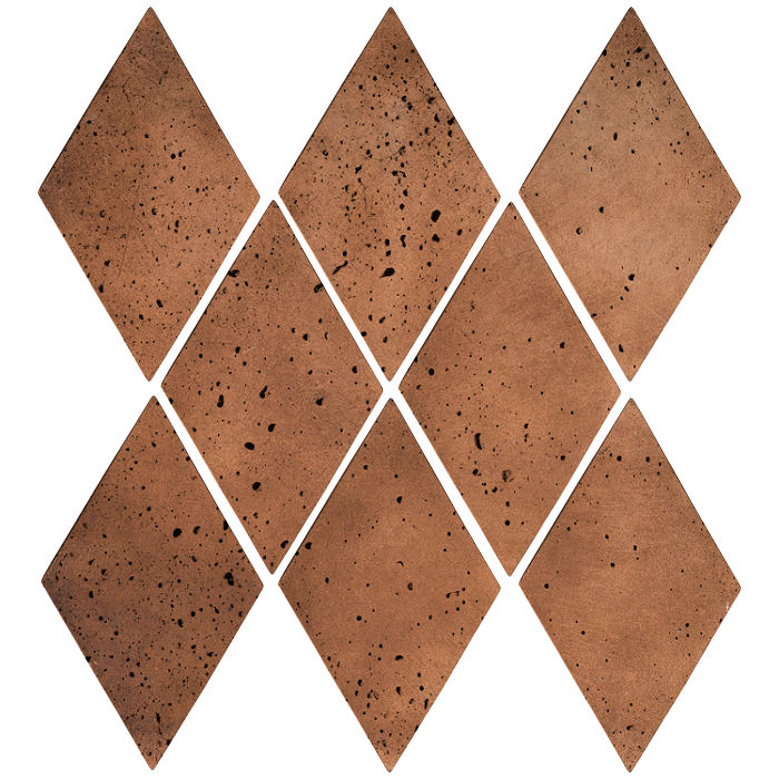 3x5 Mini Diamond Cotto Dark Travertine