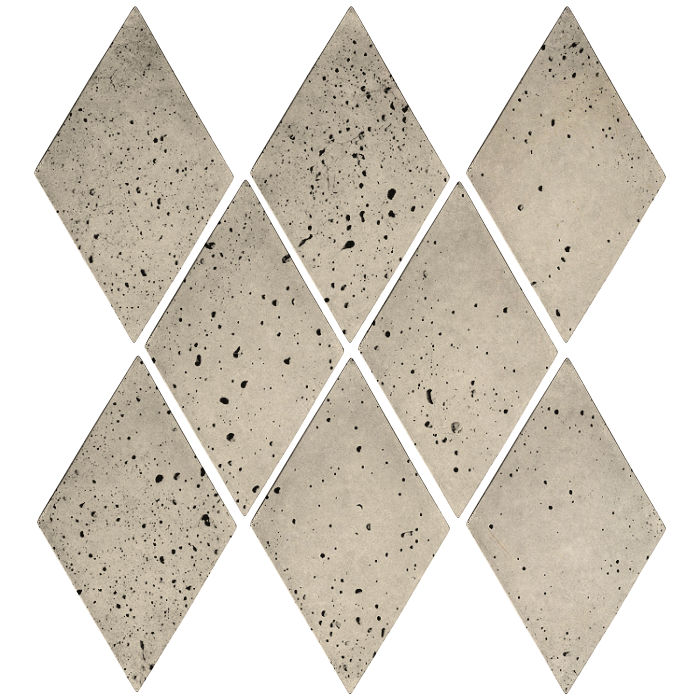 3x5 Mini Diamond Early Gray Travertine