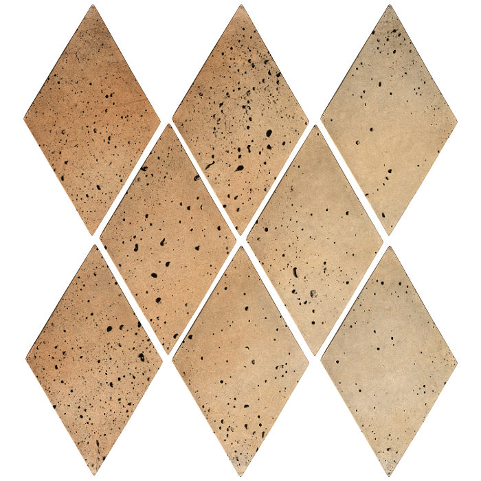 3x5 Mini Diamond Hacienda Flash Travertine