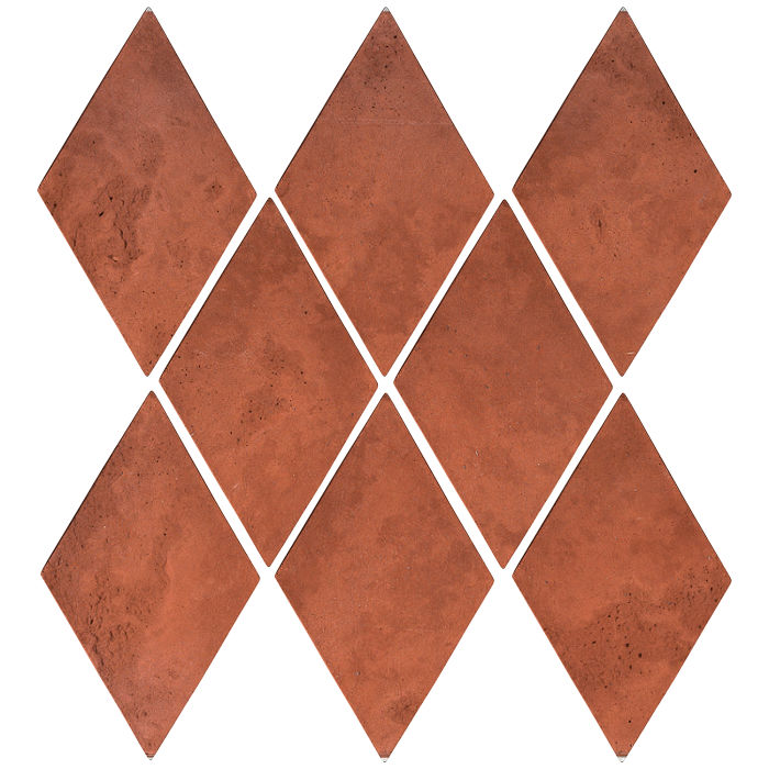 3x5 Mini Diamond Mission Red Limestone