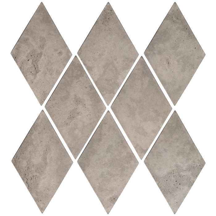 3x5 Mini Diamond Natural Gray Limestone