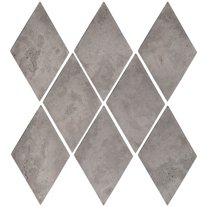 3x5 Mini Diamond Sidewalk Gray Limestone