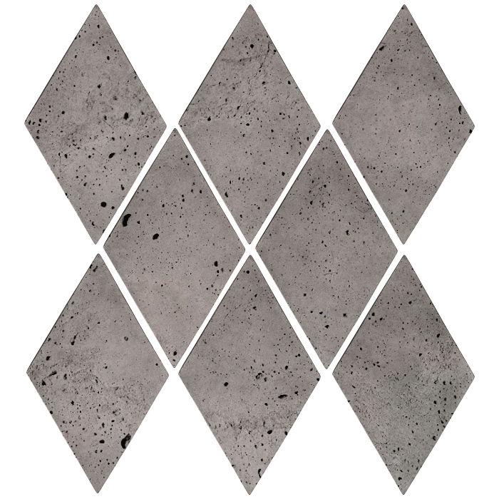 3x5 Mini Diamond Sidewalk Gray Luna