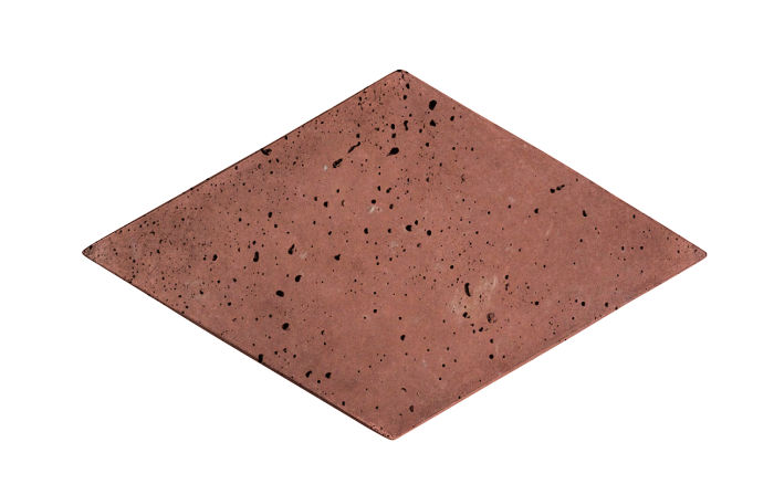 8x13 Diamond Spanish Inn Red Travertine