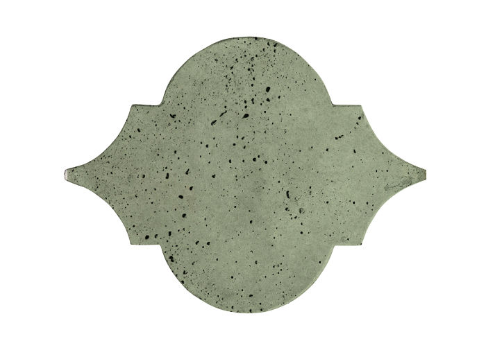 8x10 Eye of Felipe Ocean Green Light Travertine