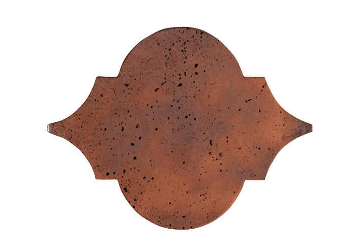 8x10 Artillo Eye of Felipe Red Flash Travertine