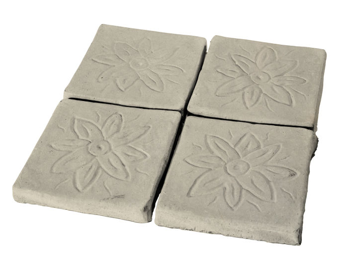 5x5 Flower Deco Early Gray