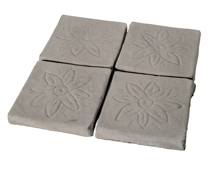 5x5 Flower Deco Natural Gray