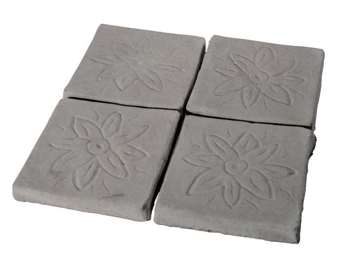 5x5 Flower Deco Sidewalk Gray