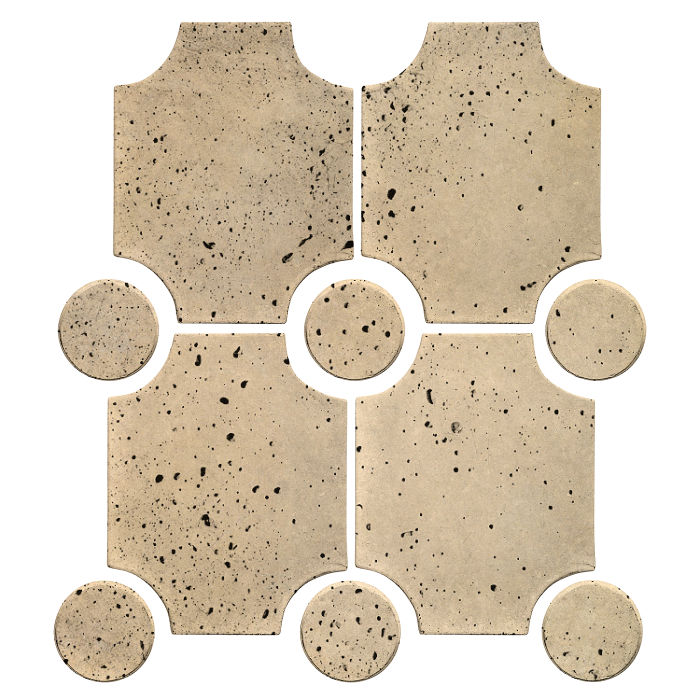 Granada Set Bone Travertine