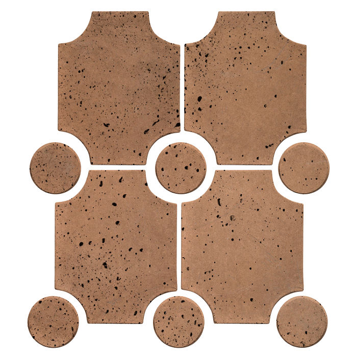 Granada Set Flagstone Travertine