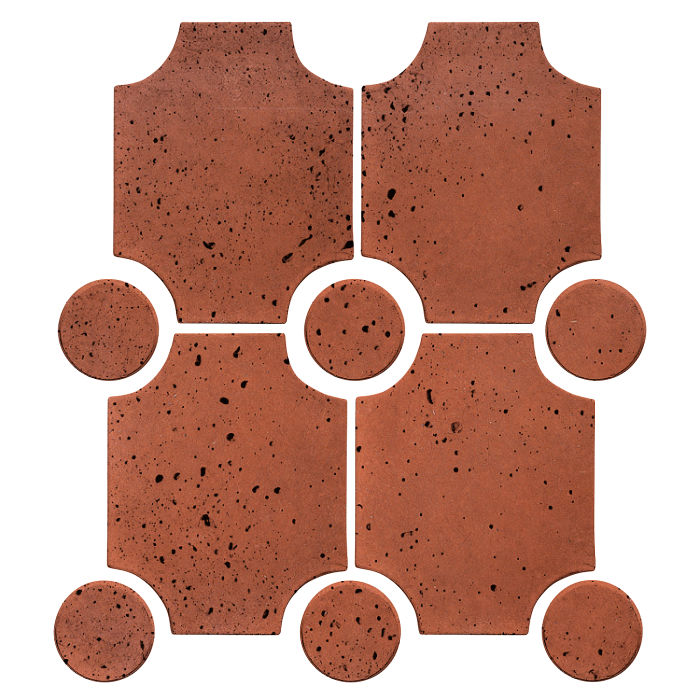 Granada Set Mission Red Travertine