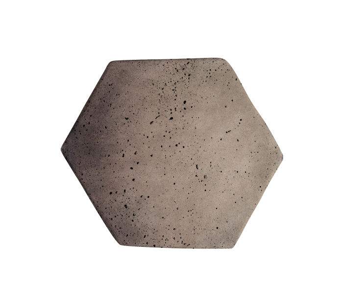 6x6 Artillo Hexagon Antik Gray Travertine