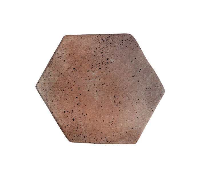 6x6 Artillo Hexagon Beachwood Flash Travertine