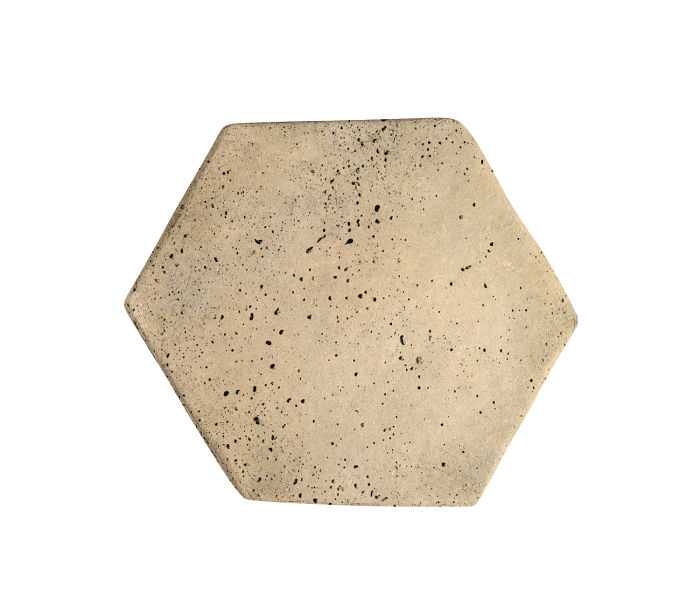 6x6 Artillo Hexagon Bone Travertine
