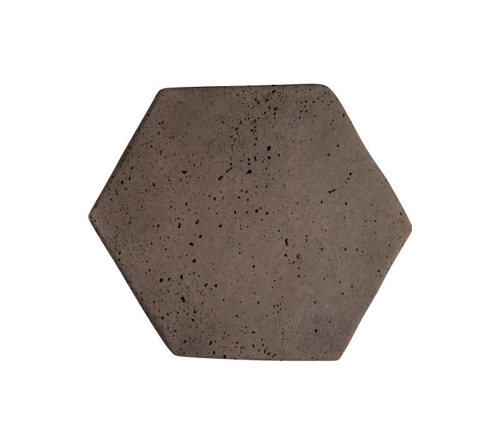 6x6 Artillo Hexagon Charley Brown Travertine