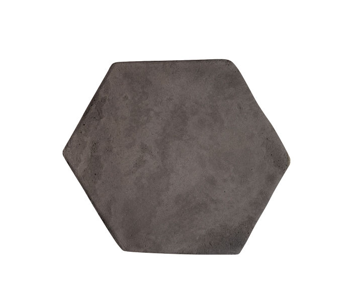 6x6 Artillo Hexagon Charcoal Limestone