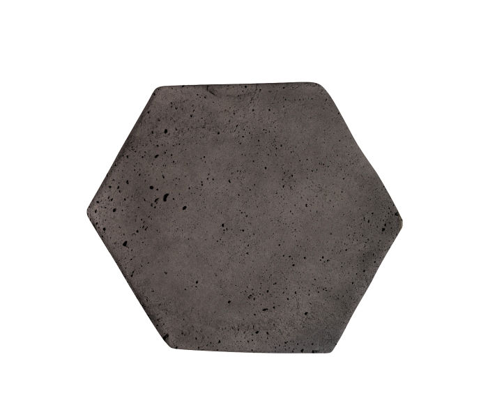 6x6 Artillo Hexagon Charcoal Luna