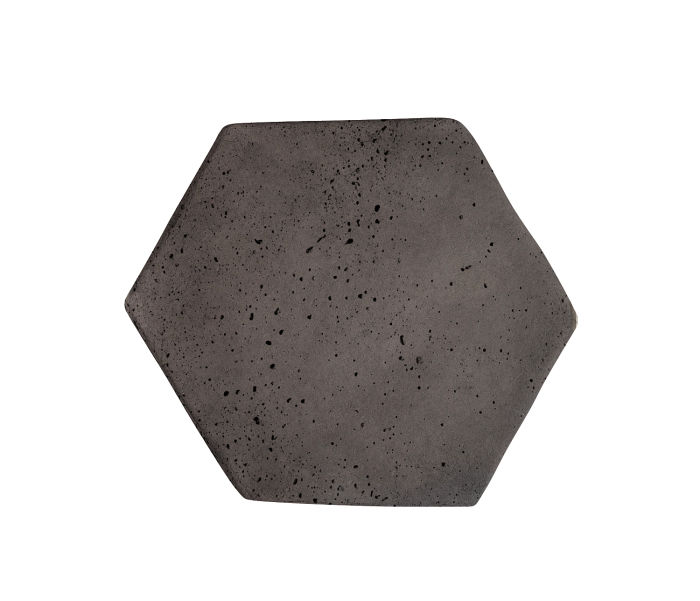 6x6 Artillo Hexagon Charcoal Travertine