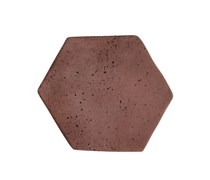 6x6 Artillo Hexagon City Hall Red Travertine