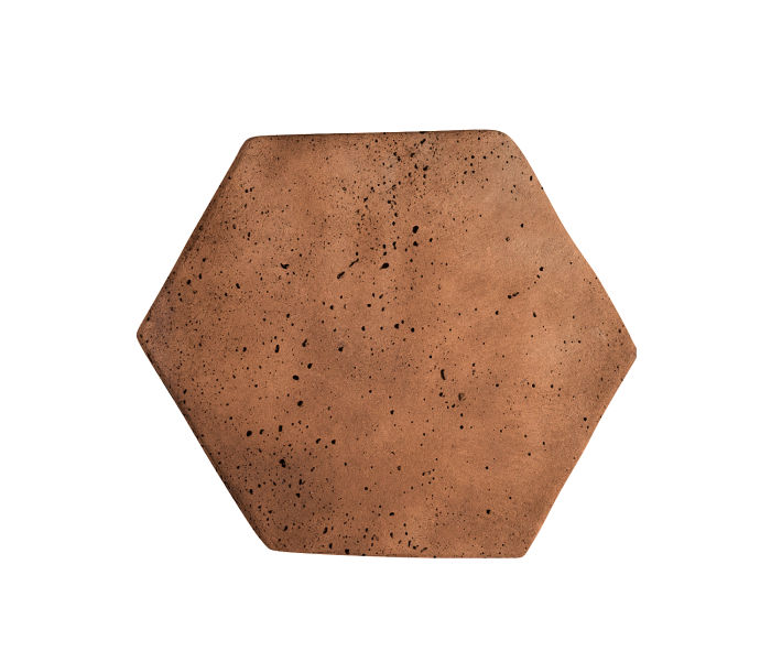 6x6 Artillo Hexagon Cotto Dark Travertine
