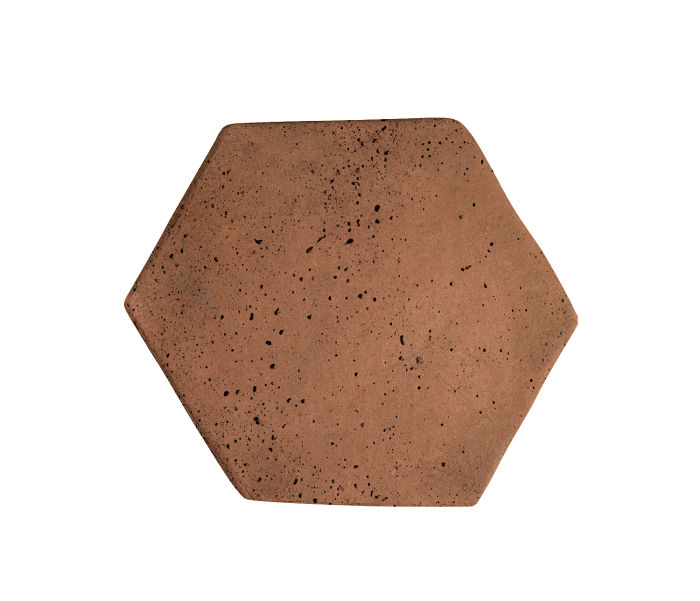 6x6 Artillo Hexagon Desert 1 Travertine