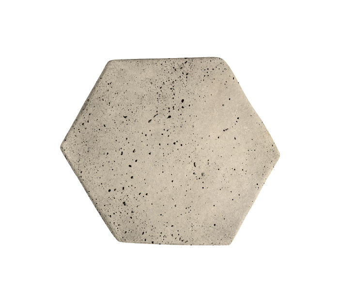 6x6 Artillo Hexagon Early Gray Travertine