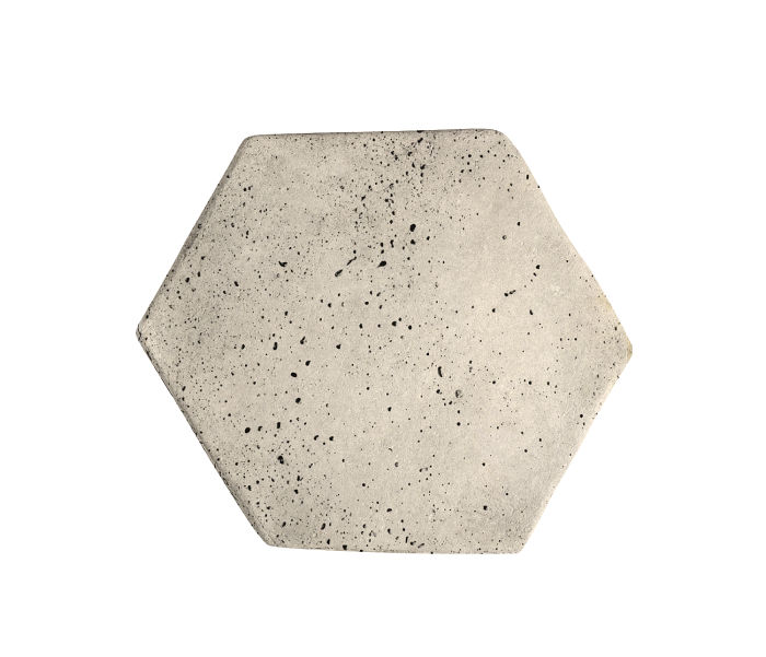 6x6 Artillo Hexagon Rice Travertine