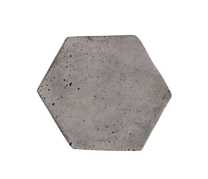 6x6 Artillo Hexagon Sidewalk Gray Luna