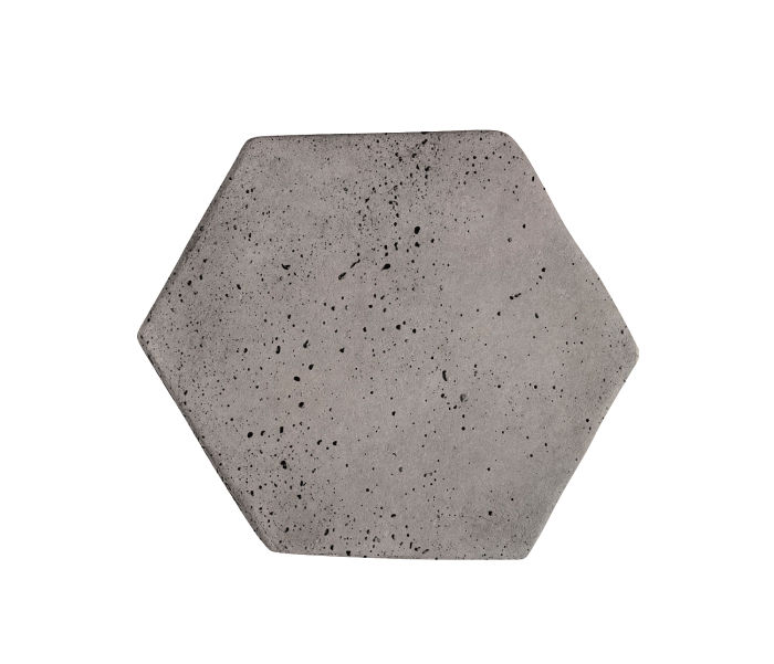 6x6 Artillo Hexagon Sidewalk Gray Travertine