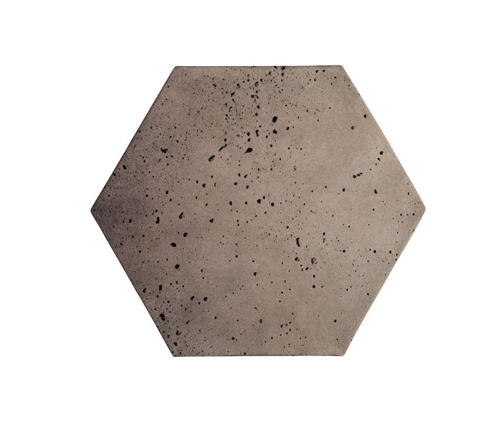 8x8 Artillo Hexagon Antik Gray Travertine