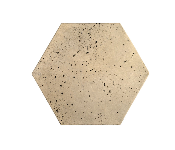 8x8 Artillo Hexagon Bone Travertine