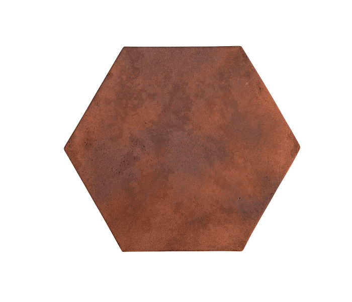8x8 Artillo Hexagon Red Flash Limestone