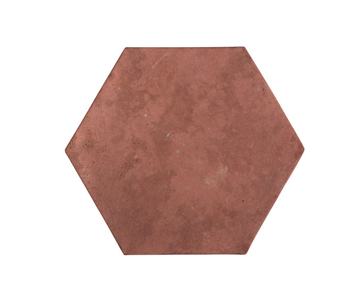 8x8 Artillo Hexagon Spanish Inn Red Limestone