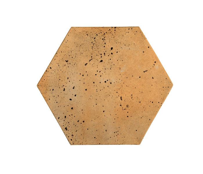 8x8 Artillo Hexagon Sonora Sunset Travertine