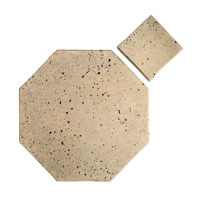 10x10 Artillo Octagon Set Bone Travertine