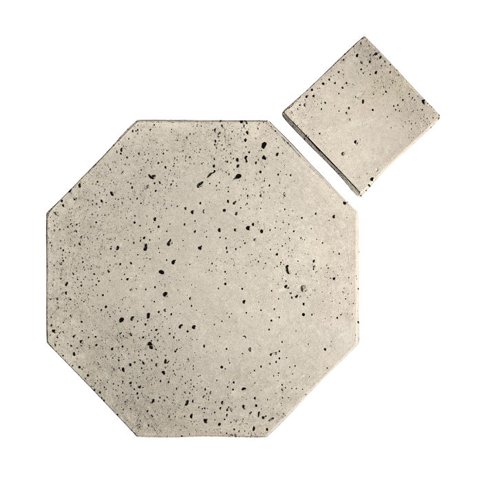 10x10 Artillo Octagon Set Rice Travertine