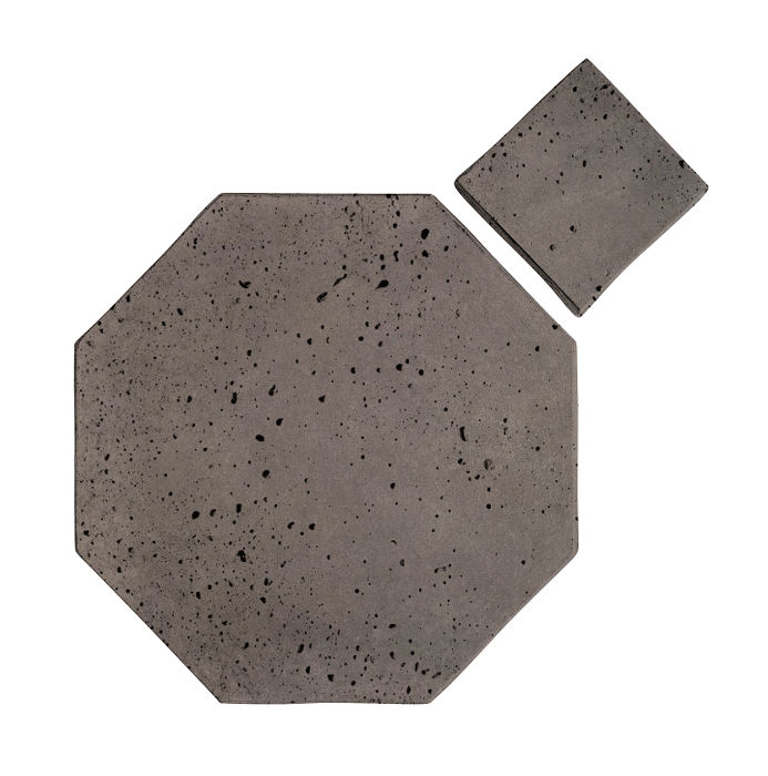 10x10 Artillo Octagon Set Smoke Travertine