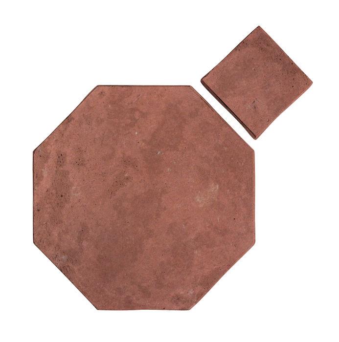 10x10 Artillo Octagon Set Spanish Inn Red Limestone