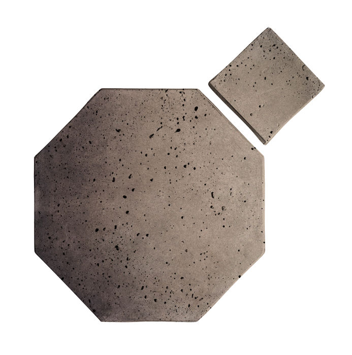 12x12 Artillo Octagon Set Antik Gray Travertine